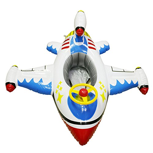 Topwon Baby Pool Float (Airplane Float - White) Airplane Floats