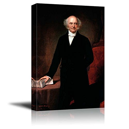 (wall26 - Portrait of Martin Van Buren by G.P.A. Healy (8th President of The United States) - American Presidents Series - Canvas Wall Art Gallery Wrap Ready to Hang - 24x36 inches)