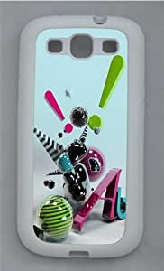 3D Abstract Art TPU Silicone Rubber Case Cover for Samsung Galaxy S3 SIII I9300 White by supermalls