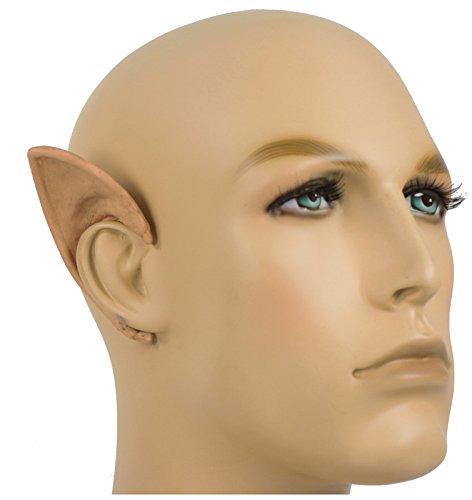 [Cosplay Elf Flexi Ears Costume Accessory (Flesh)] (Frodo Costume Mens)