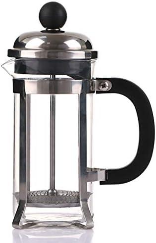 コーヒープレス フレンチプレッシャーコーヒーメーカーステンレススチールフレンチフィルターカップ手洗いフィルタープレスティーメーカー350/600 / 800ml (サイズ さいず : 8.5*17cm(350ml))
