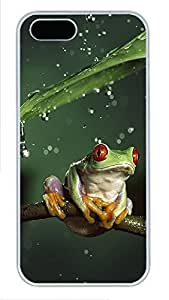 iPhone 5 5S Case Tiny Tree Frog PC Custom iPhone 5 5S Case Cover White