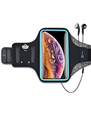 Takfox Cell Phone Armband for Samsung Galaxy Note 20 Ultra S21 Plus S10 A12 A01 A11 A21 A51 A71 5G A32 A42 A52 A72 iPhone 12 11 Pro Max Sports Running Workout Phone Holder Pouch Card Slots Case-Black