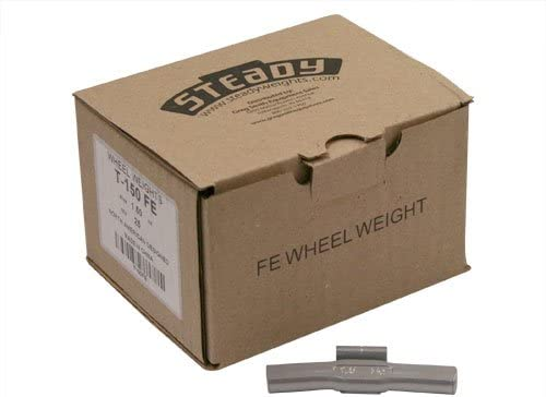 Box of 25 Coated Steel Truck Wheel Weights 1.5 ounce