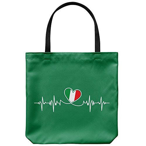 Tote Bag Italy Themed - Italian Lifeline Casual & Big but Stylish Poplin Shoulder Handbag for Work & Travel But I Italian Handbag
