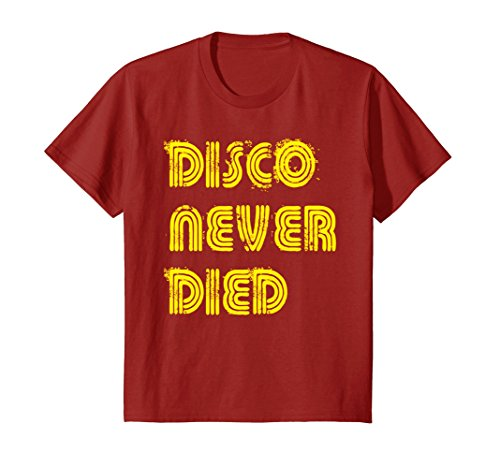 Kids Disco Never Died Tshirt Vintage Retro Neon Light Funky Tee 6 - Inspired 70s