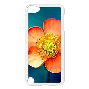 iPod Touch 5 Case White Flower Phone Case Cover Design Plastic XPDSUNTR10223