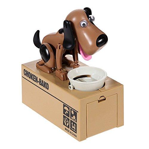 Puppy Bank - LOBZON Cute Automatic Stealing Coin Bank, Piggy Bank, Saving Box, Money Box