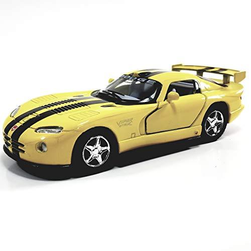 Kinsmart Dodge Viper GTR-R Yellow & Black Stripes Hardtop 1/36 Scale Diecast Car
