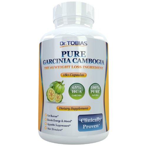 Extrait Pur de Garcinia Cambogia - 180 Capsules Pour le contrôle du poids efficace et perte de poids. 65% HCA (acide hydroxycitrique) plus de potassium pour une absorption optimale. Super puissant brûleur de graisse et coupe-faim fait du meilleur Perte de