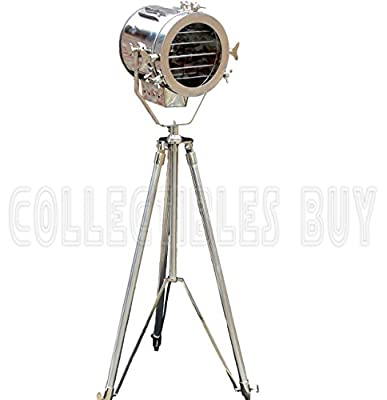 Nautical Steel Searchlight Studio Floor Lamp Tripod Collection of Xmas