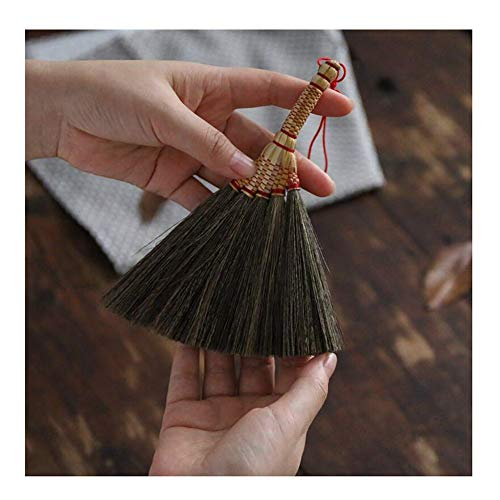 Suspensions Mini Pendant Holder - YJFENG Mini Straw Broom Wall-mounted Soft Hand Made Cleaning The Desktop Sorghum Seedlings Handle (Color : Multi-colored, Size : 17.5x14cm)