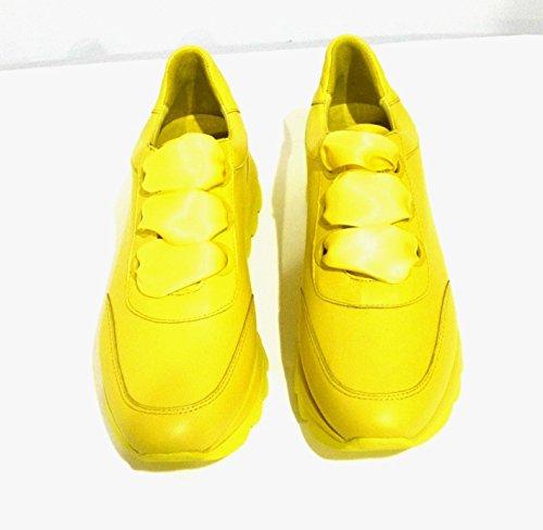 Alto A Collo Giallo Cafènoir Kdb235 Donna Sneaker 6UqII4