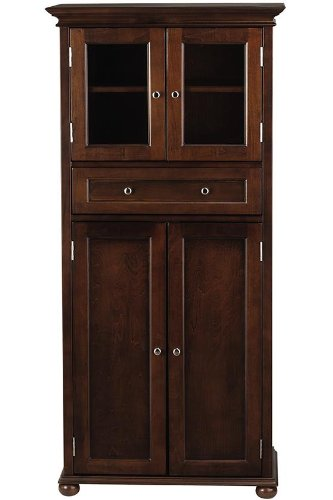 Home Decorators Collection Hampton Bay 1 Drawer Tall Bath Cabinet, 4-Door, - China Hutch Collection
