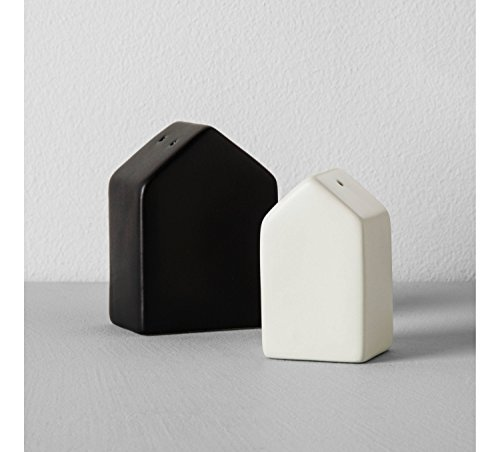 (Hearth & Hand with Magnolia House Salt Pepper Set Joanna Gaines Collection Black Cream)