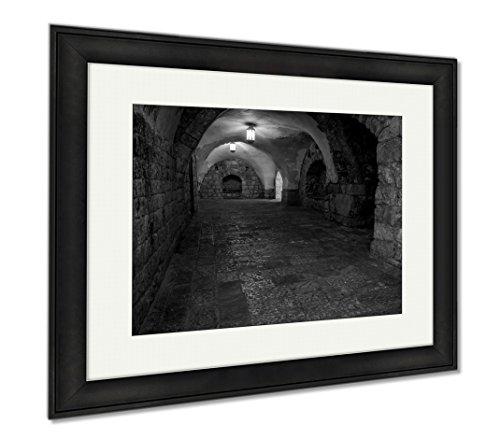 Ashley Framed Prints Interior Of The King Davids Tomb In Jerusalem Israel, Modern Room Accent Piece, Black/White, 34x40 (frame size), Black Frame, AG6396115 by Ashley Framed Prints