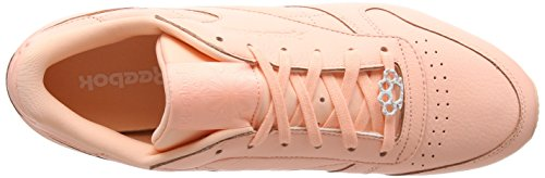 Top Twist Leather Classic Sleek Sneakers Low L Reebok Damen Grit peach Pink Met wTXxvnq