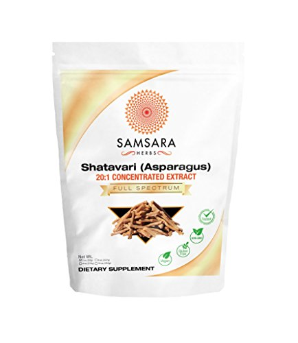Samsara Herbs Shatavari Extract Powder (2oz/57g) (Asparagus racemosus Root Extract) 20:1 Concentrated Extract