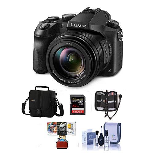 Panasonic Lumix DMC-FZ2500 Digital Camera – Bundle with Camera Case, 32GB SDHC U3 Card, Memory Wallet, Cleaning Kit, SD…