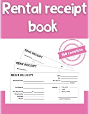 Rental receipt book: carbonless rent receipt book with 3 receipts a page 150 sets per book 8.5 X 11 inches
