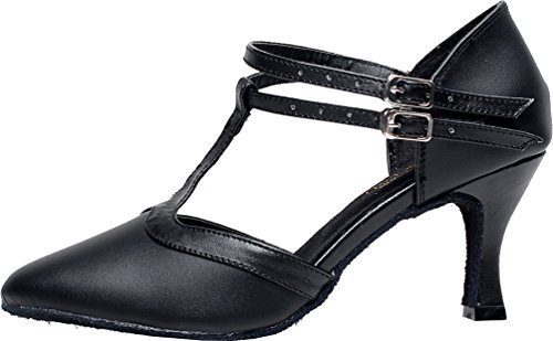 6219 Aqq Bout Noir Ferm Cuir De En Danse Salabobo Chaussures d5qdw8