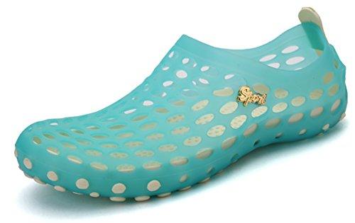 katliu Sommer Atmungsaktiv Mesh Clogs Slip on Badeschuhe Wasserschuhe Schnell Trocknend Sandalen Slipper Strand Barfuß Aqua Schuhe für Damen Herren Kinder Blau