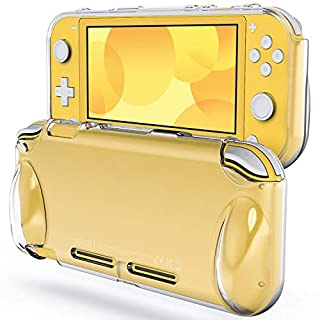 JETech Protective Case for Nintendo Switch Lite 2019, Grip Cover with Shock-Absorption and Anti-Scratch Design, HD Clear