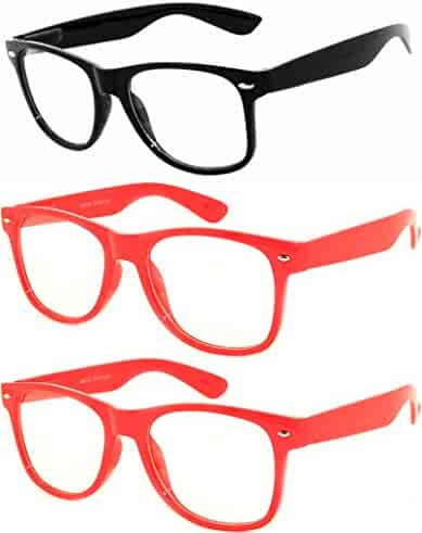98c1f12a8fb32 OWL - Non Prescription Glasses for Women and Men - Clear Lens - UV  Protection