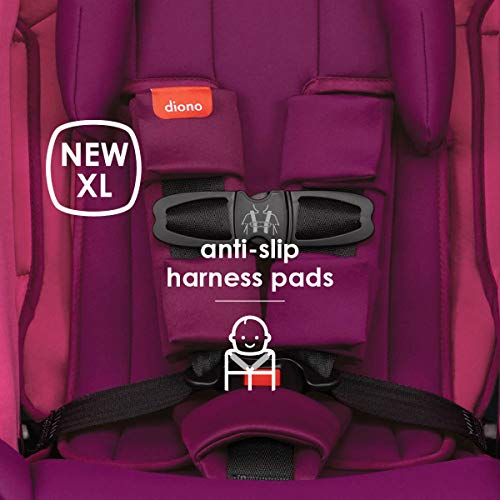 41anwACzy6L - Diono Radian 3RX 3-in-1 Rear And Forward Facing Convertible Car Seat, Head Support Infant Insert, 10 Years 1 Car Seat Ultimate Safety And Protection, Slim Design - Fits 3 Across, Pink Blossom