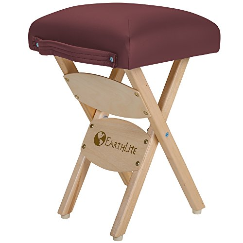 - EARTHLITE Wooden Folding Stool - Hardwood Maple, CFC-Free, Massage Table Medical Spa Facial Salon Chair