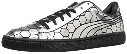 Puma Womens Basket Classic Metallic Wns Fashion Sneaker Puma Zwart