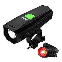 自転車ライト 充電式 Topoomy 【5つの光モード / バッテリー残量...