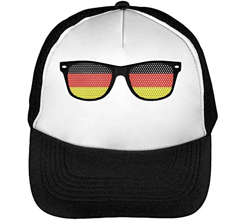 Flag Glasses Gorras Hombre Snapback Beisbol Negro Blanco