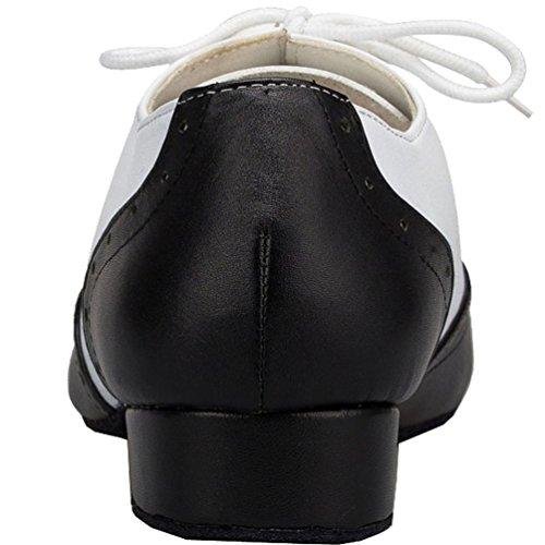 Abby Yfyc-l147 Mens Scarpe Da Ballo Da 1 Pollice Professionali In Pelle Nera Da Allenamento