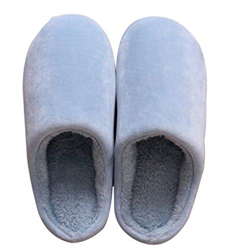 Cattior Dames Koraal Warme Pantoffels Huis Schoenen Blauw