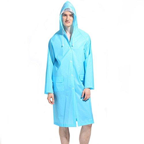 Womens Durable Poncho Hooded Long Jacket Raincoat Outdoor Travel Rainwear