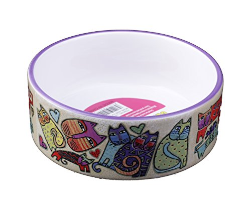 MushroomCat Cat pattern sticker Ceramic bowl No.2 For Pet Dog Cat drinking water and food (Water Dog Ceramic Bowl)
