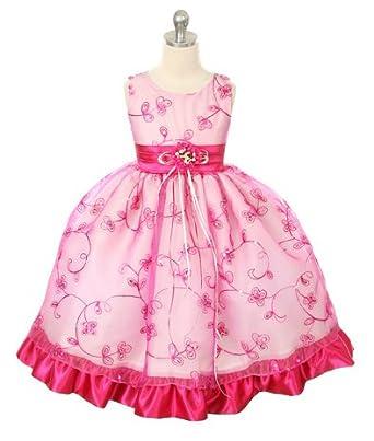 243e30639a2 Amazon.com  SIZE 11 12 - fuchsia Flower Girl Dress (Size Toddler to ...