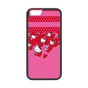 Hello Kitty Hearts iPhone 6 Plus 5.5 Inch Cell Phone Case Black NiceGift pjz0035036102