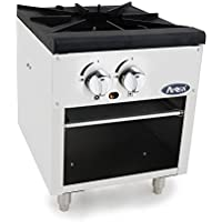 Atosa USA ATSP-18-1 (High BTU 80,000) Heavy Duty Stainless Steel Stock Pot Stove - Natrual Gas Double Burner