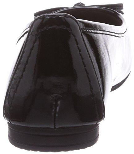 Softline 22163, Women's Closed ballerinas Black - Schwarz (Black / Patent 18)