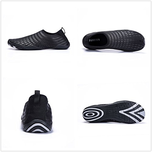 LeKuni Barefoot Water Shoes Mens Womens Quick Dry for Swimming Yoga Boating Lake Beach Travel 61_black cms4SLK