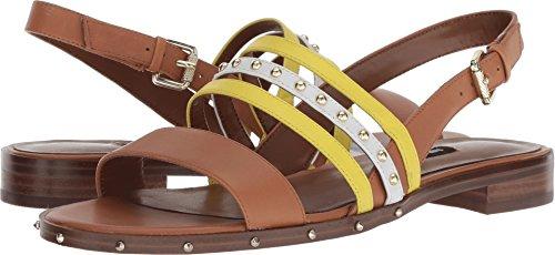 (Nine West Women's Chaylen Leather Sandal, Dark Natural, 5 M US)