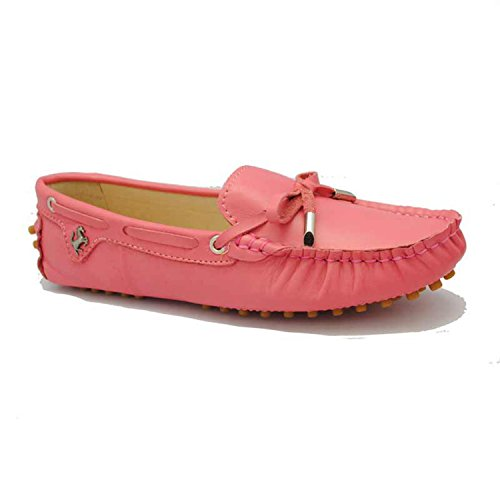 Slip Red Casual Da Mocassini Ballerine Nabuk Minitoo Cherry Scarpe Donna Bambina on Barca qtt1xf4R