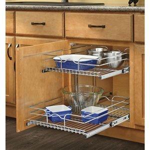Rev-A-Shelf 2-Tier Metal Pull Out Cabinet Basket by Rev-A-Shelf