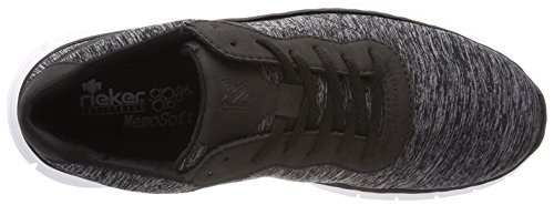 Schwarz Homme B4808 Gris Rieker Basses Schwarz grau Sneakers Gris v1wqdtUnYd