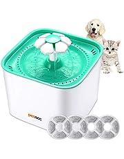 Petacc Fuente para Gatos Perro con 4 Filtros Bebedero Gatos Automático Silencia ,2L (Filtros)