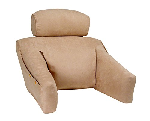 Bedlounge (Regular Size, Microsuede Cover, Natural Color): The Ultimate Reading Pillow, Back Support Pillow, Tv Pillow and More … by BedLounge
