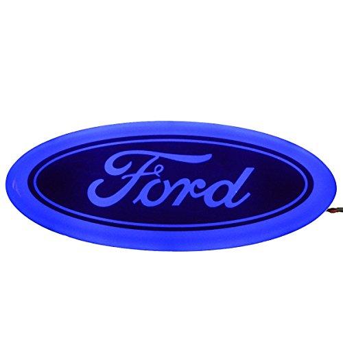 Ford Emblem (Bearfire 4D LED Car Tail Logo Light Badge Lamp Emblem Sticker for Ford (blue))