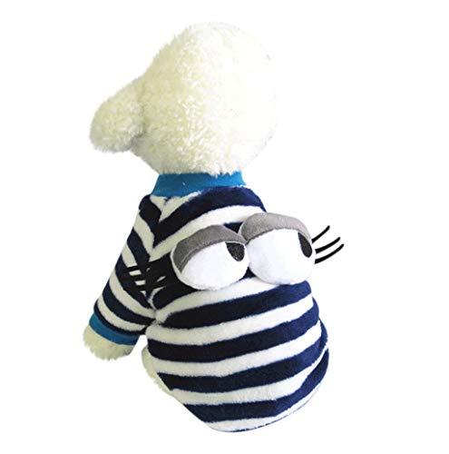 Pet Sweater,JHKUNO Pet Fleece Eye Embellishment Sweater Puppy Winter Clothes Cotton Snowsuit Coat Villus Warm Clothes